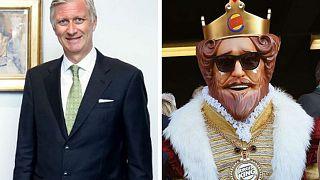 """"""" برغر كينغ """" تغضب ملك بلجيكا"""