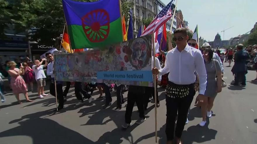 Desfile anual del orgullo gitano en la República checa