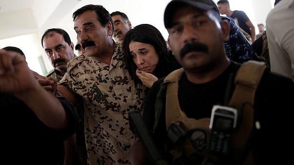 بازگشت دختر ایزدی اسیر داعش به محل زندگیاش
