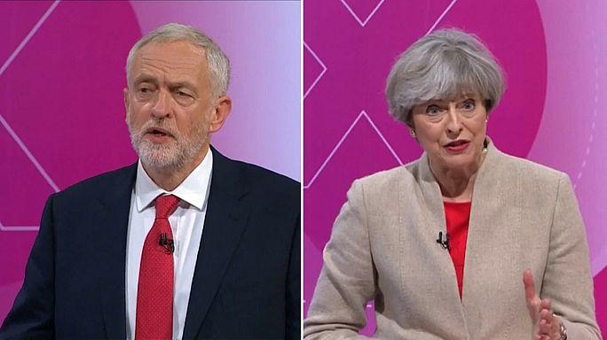 May ve Corbyn televizyonda seçim öncesi son kozlarını paylaştı