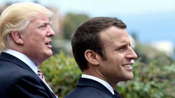 """[فيديو] فرنسا """"تصحح"""" لترامب أخطاءه حول اتفاق المناخ"""
