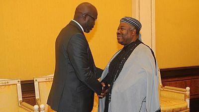 George Weah calls on Gabon's Ali Bongo ahead of Liberia's election