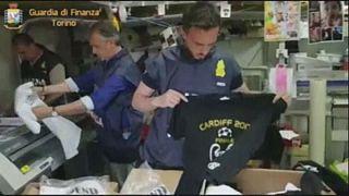 Champions League: Guardia di Finanza sequestra articoli contraffatti