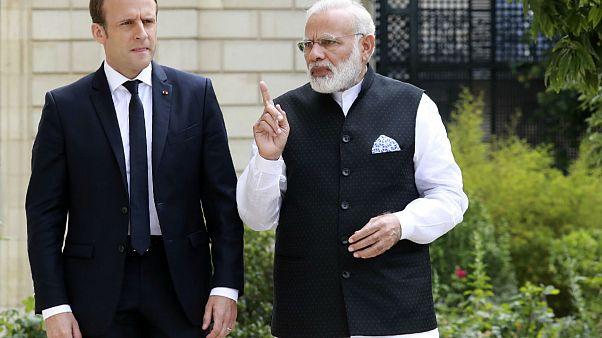 Macron y Modi se comprometen a desarrollar el Acuerdo de París