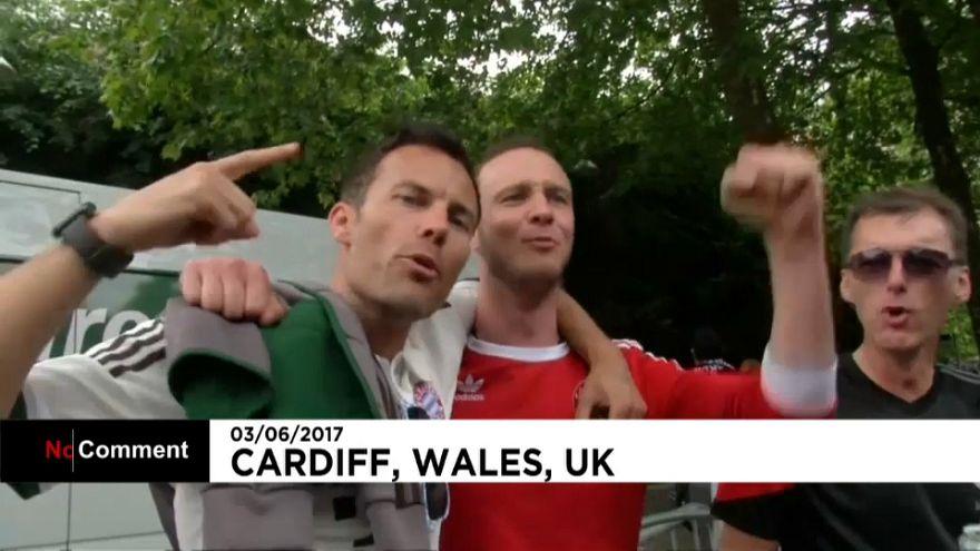 """Apoiantes da Juventus """"tomam"""" Cardiff"""