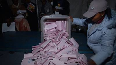Vote counting begins in highly contested Lesotho election