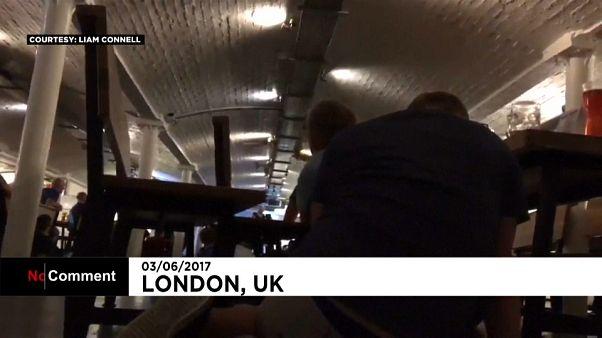 Londra saldırı: Barda panik anları