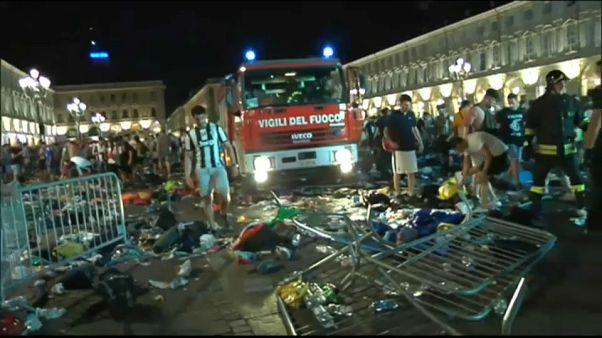 Una estampida en Turín deja diversos cientos de heridos