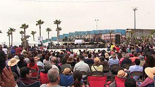 Concerto sem barreiras na fronteira entre EUA e México