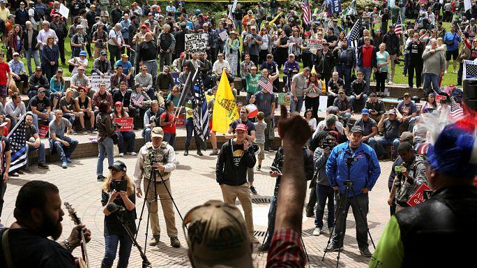 Elfajult a tüntetés Portlandben
