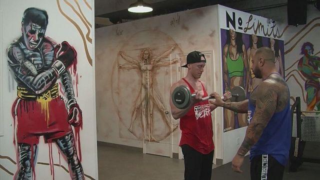 Grafiti de superhéroes para entrenar
