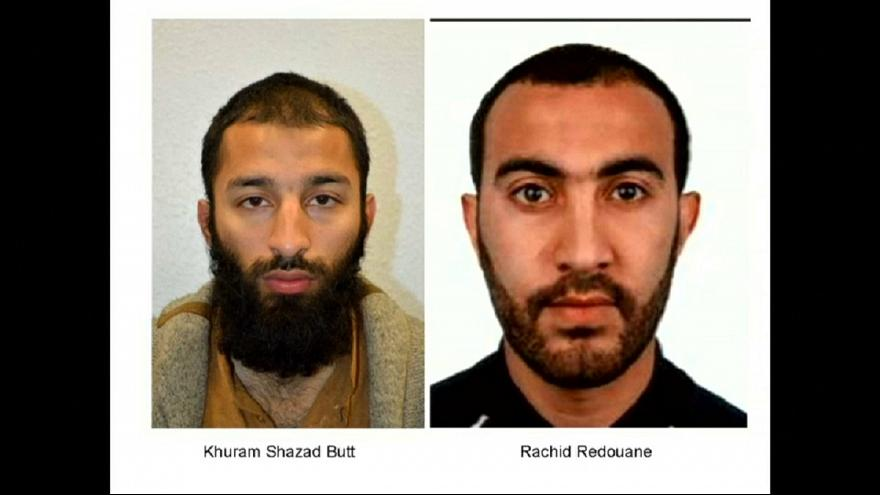 Identificados dois dos 3 atacantes de Londres