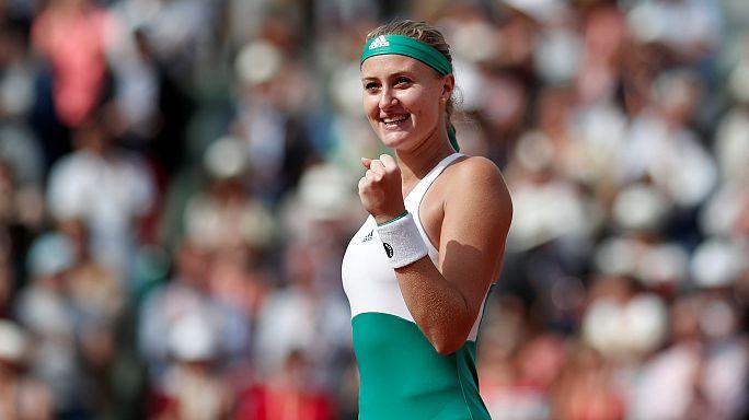 Neuer French-Open-Star Kiki Mladenovic, eine Franko-Serbin