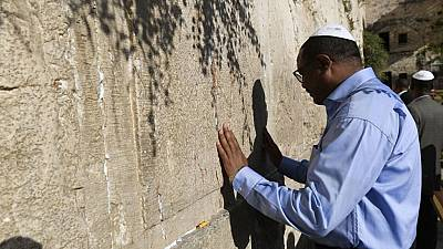 [Photos] Ethiopian PM visits Jerusalem's old city ahead of Netanyahu meeting