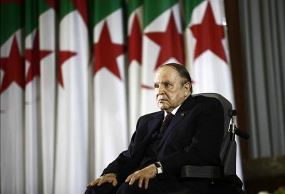 President Abdelaziz Bouteflika during a swearing-in ceremony for a fourth term in Algiers April 28, 2014.