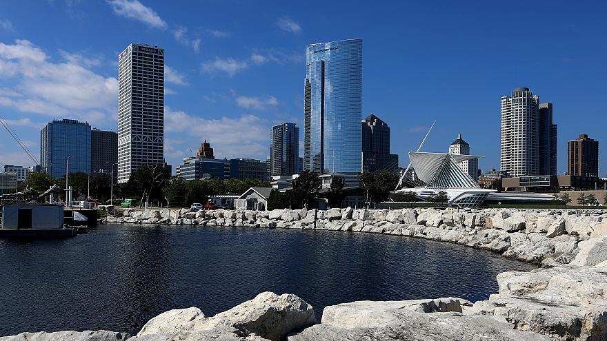 Image: The Milwaukee skyline in Wisconsin on Sept. 13, 2018.