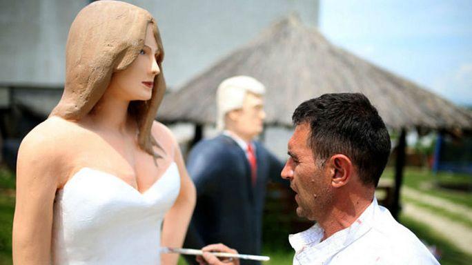 أول تمثال لميلانيا ترامب يُنحت في البوسنة