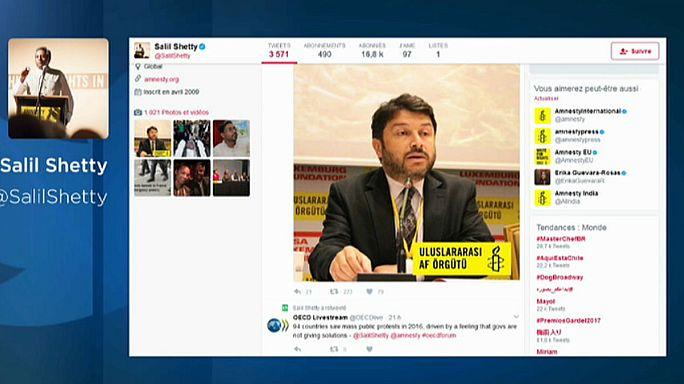 Letartóztatták a török Amnesty International vezetőjét