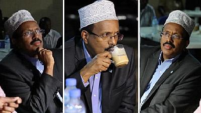 [Photos] The 'cheesy' president's cup of tea amid terror – Somali style