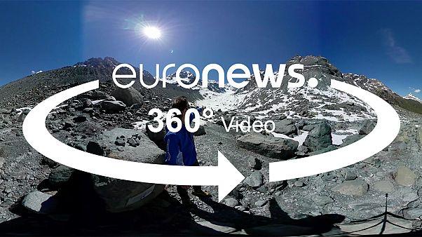 360 fokos videó: hogyan húzódik vissza egy gleccser?