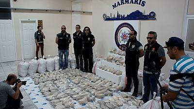 Tonne of heroine seized on DR Congo-flagged ship in Turkey