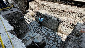 Tovább vizsgálják az azték templom romjait