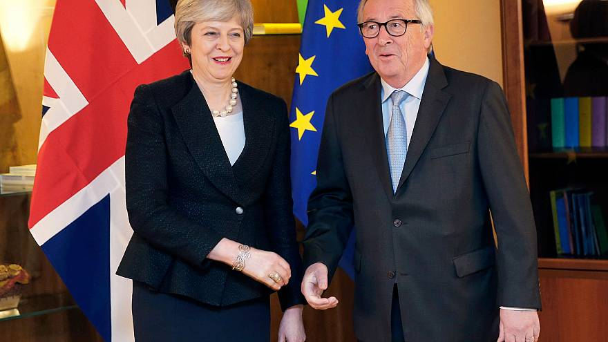 Image: European Commission President Jean-Claude Juncker welcomes British P