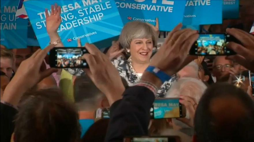 UK PM Theresa May expected to fall short of a majority - exit poll