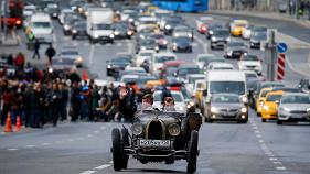 Vintage car rally in Moscow