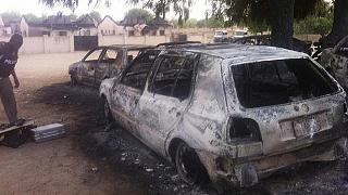 Nigeria police say 14 died in Maiduguri attack, acting president visits city