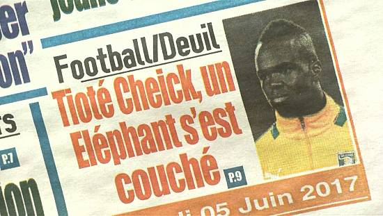 Ivorians shocked by footballer Cheick Tiote's death [no comment]