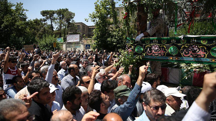 تشييع جثامين ضحايا اعتداءات طهران ..وتبادل اتهامات بين طهران وواشنطن