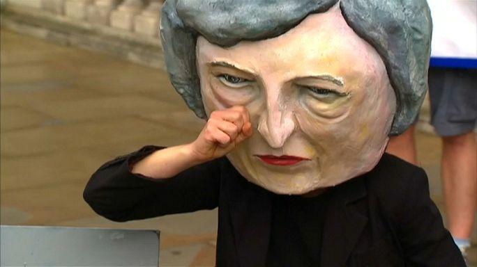 احتجاجات في بريطانيا ضد عرقلة البريكسيت