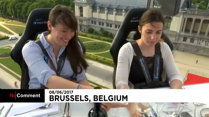 Brüssels exquisite Küche in 40 Metern Höhe genießen
