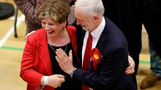 Jubilant Jeremy's big boob as high-five goes embarrassingly wrong
