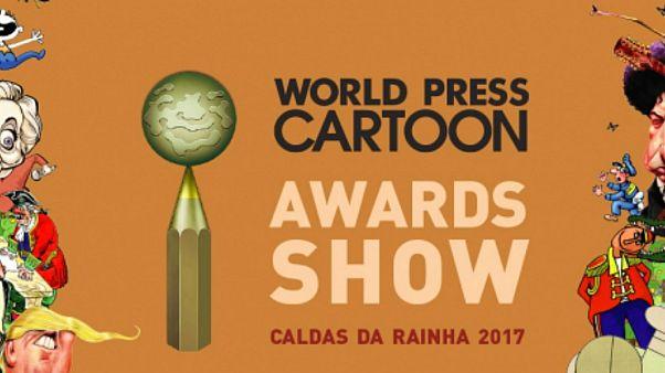 Alireza Pakdel, do Irão, ganhou o Grand Prix do World Press Cartoon 2017 - Gala de entrega de prémios