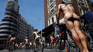 Cyclists strip off for more road safety