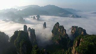 Mare di nuvole in Cina
