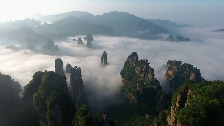Un mar de nubes en China