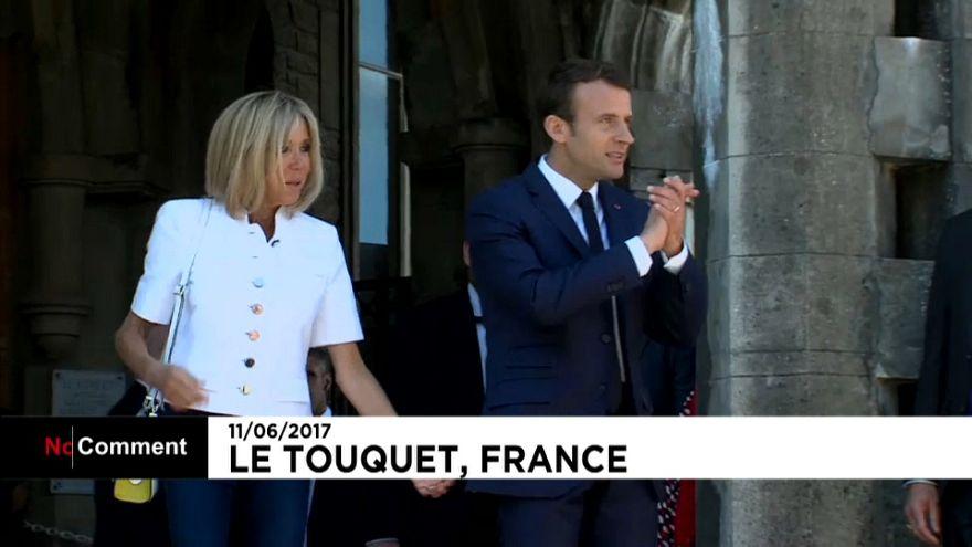 Szavaz a francia elnök