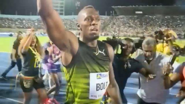 Usain bolt bids a fast farewell to fans in Jamaica