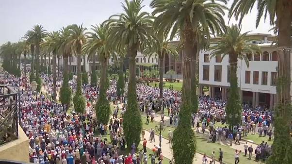 Rally in Moroccan capital Rabat