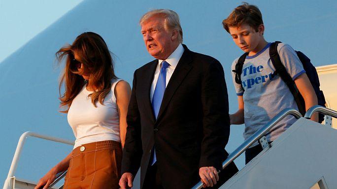 Melania Beyaz Saray'a taşındı
