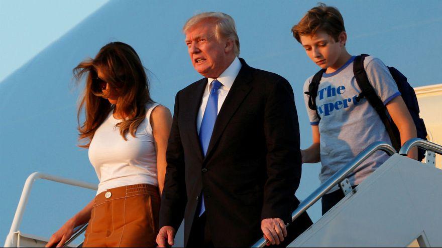 Trump já tem mulher e filho na Casa Branca