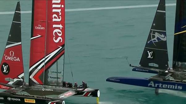 America's Cup: match point per Team New Zealand