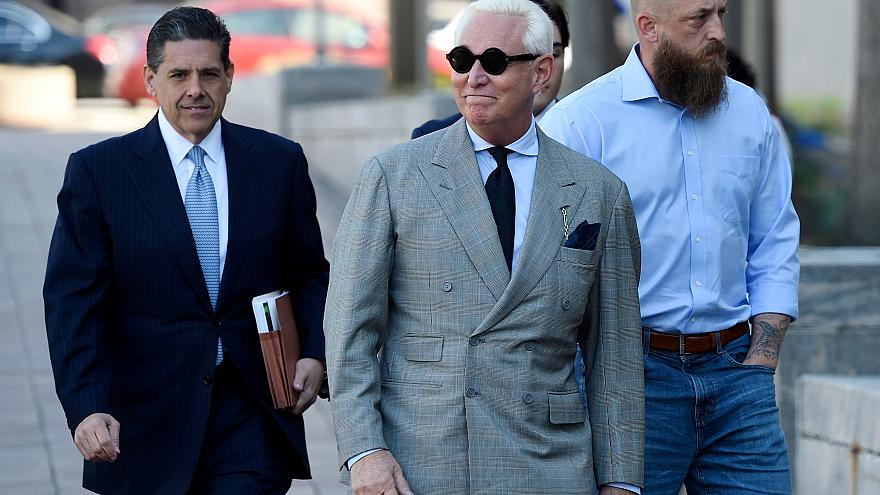 Image: Roger Stone, former adviser to President Donald Trump, arrives for a