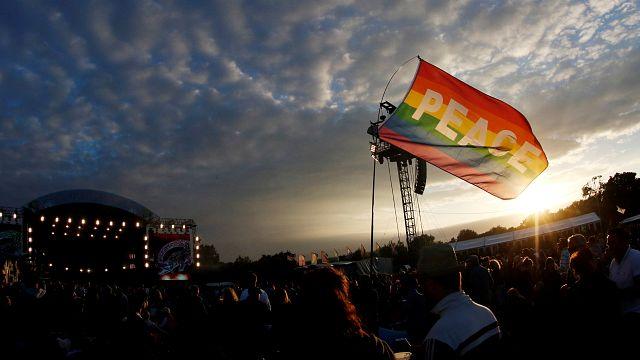 Rod Stewart cierra el Festival de la Isla de Wight