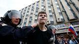 Centenas de detidos em manifestações contra a corrupção, incluíndo opositor Alexei Navalny