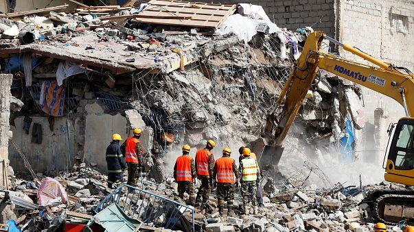 Wohnblock in Nairobi eingestürzt