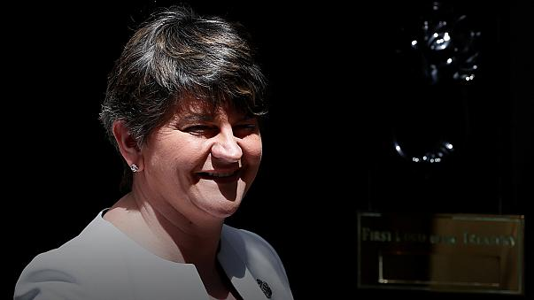DUP leader arrives in Downing Street for crucial talks with May